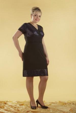 нарядные платья для полных женщин фото.